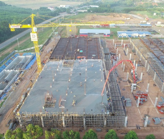 CONCRETING AT GROZ-BECKERT PHASE II PROJECT