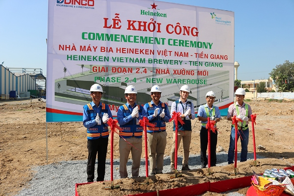 COMMENCEMENT CEREMONY OF HEINEKEN VIETNAM BREWERY FACRORY – TIEN GIANG PHASE 2.4