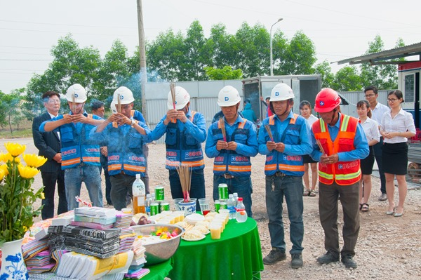 COMMENCEMENT CEREMONY OF TAY AN SPINNING MILL – PHASE 2
