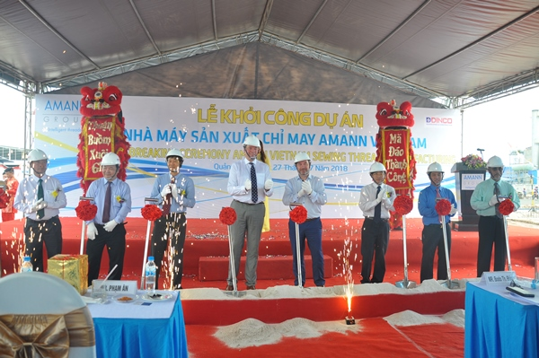 COMMENCEMENT CEREMONY OF AMANN VIETNAM SEWING THREADS MANUFACTURING FACTORY
