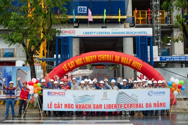 TOPPING OUT CEREMONY OF LIBERTY CENTRAL DA NANG HOTEL