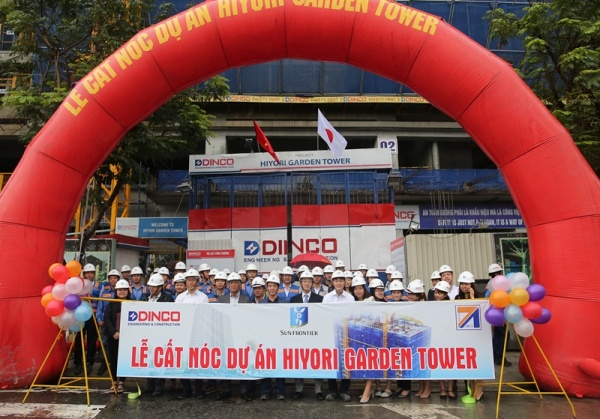 TOPPING OUT CEREMONY OF HIYORI GARDEN TOWER PROJECT