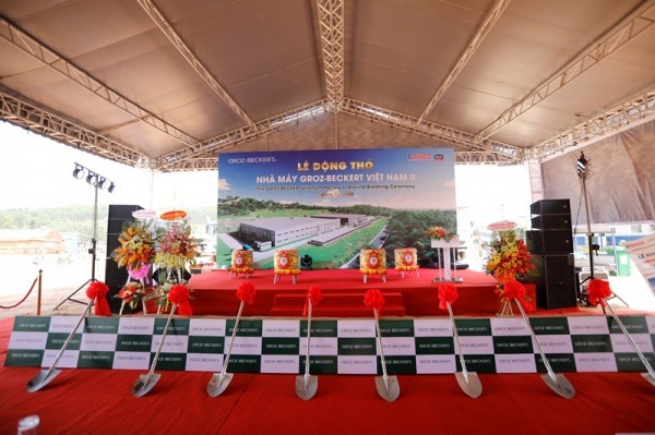 DINCO E&C CARRYING OUT THE GROUNDBREAKING OF GROZ – BECKERT VIET NAM II FACTORY