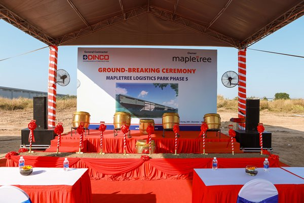 GROUNDBREAKING CEREMONY FOR THE MAPLETREE WAREHOUSE PROJECT – PHASE 5