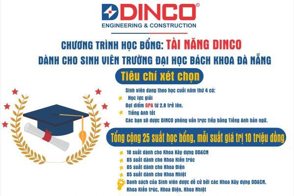 """""""Tài năng DINCO"""" – Chương trình học bổng dành cho sinh viên trường Đại học Bách Khoa Đà Nẵng"""